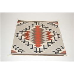 20TH CENT. NAVAJO WEAVING - STEPPED SERAPI DESIGN W/ 7 COLOR