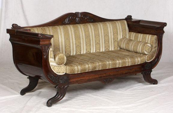 SOFA, CLASSIC EMPIRE STYLE SCROLL ARM. Loading Zoom