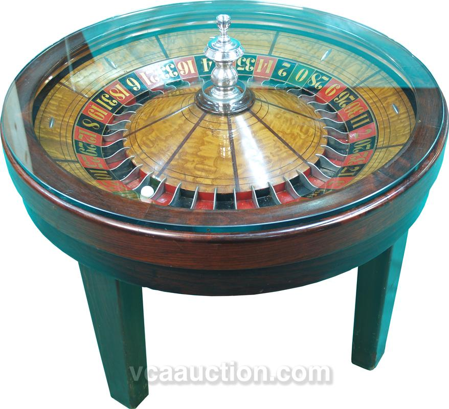 Roulette Wheel Coffee Table 20 H 31 Diam