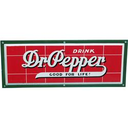 "Dr. Pepper Brick Wall Porcelain Sign - 26"" x 10"""
