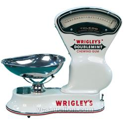 Toledo Porcelain Scale Wrigleys Gum Motif w/ Scoop