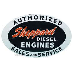 Sheppard Diesel Engines Service Double Sided Porcelain