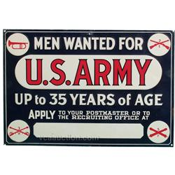 "U.S. Army Embossed Tin Sign - 19"" x 14"""
