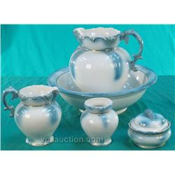 5 Piece French Basin & Pitcher Set
