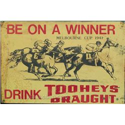 Be On A Winner Horse Race Tin Sign Melbourne Cup 1941