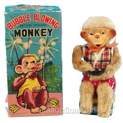 Bubble Blowing Battery Operated Monkey In Original Box