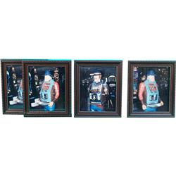 Lot Of 4 Framed Figural Slot Machines Location Photo's