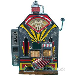 1 Cent Jennings Little Duke Slot Machine w/ Gum Vendor