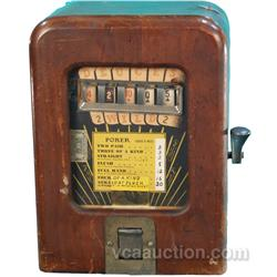 1 Cent Deuces Wild Poker Trade Stimulator In Wooden Cas