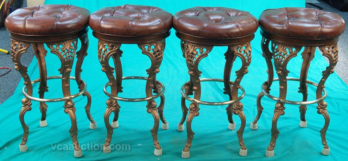 Image 1 Lot 4 Custom Made Bar Stools Ornate Victorian Styl