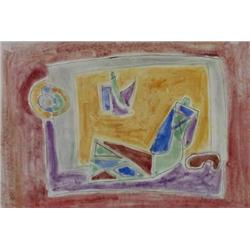 AHARON KAHANA 1905 - 1967 Figure, 1957 Watercolor Signed and date