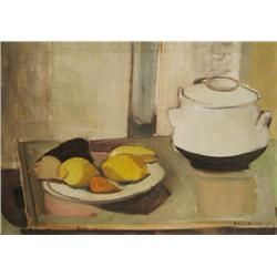 GEULA DAGAN 1925 - 2008 Still Life, 1952 Oil on canvas Signed and