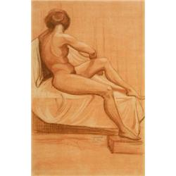 JACOB EISENBERG 1897 - 1966 Nude, 1921 Pastel Signed and dated. 3