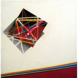 JACOB WEXLER 1912 - 1995 Composition, 1977 Acrylic on wood Signed