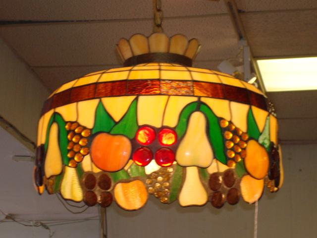 Round Leaded Glass Fruit Motif Chandelier – Fruit Chandelier