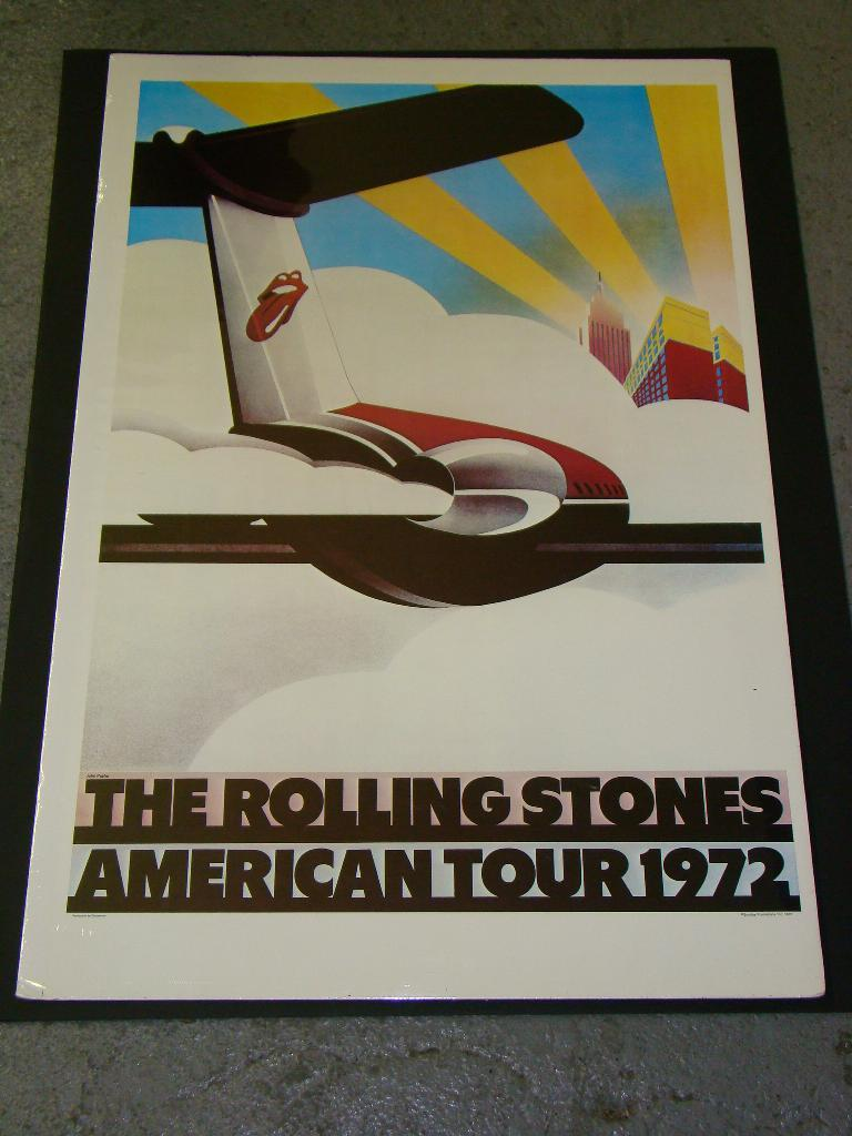 rolling stones 1972 american tour poster. Black Bedroom Furniture Sets. Home Design Ideas
