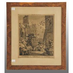 """Beer Street"" William Hogarth Print."