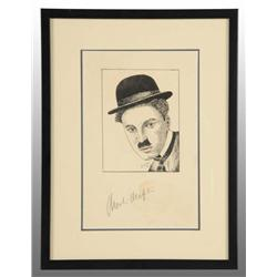 Autographed Print of Charlie Chaplin.