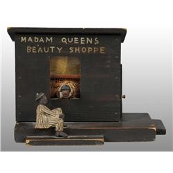 Madam Queen's Beauty Salon Folk Art Piece.