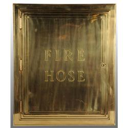 Fire Hose Door & Brass Framework.
