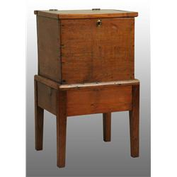 Rare Southern Walnut Sugar Chest.