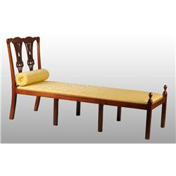 Rare New York Chippendale Cherry Day Bed.