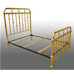 Double Brass Bed.