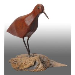 Wooden Shore Bird Decoy.