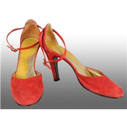 Pair of Natalie Wood's Red High Heel Shoes.