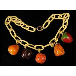 Bakelite Fruit Necklace.