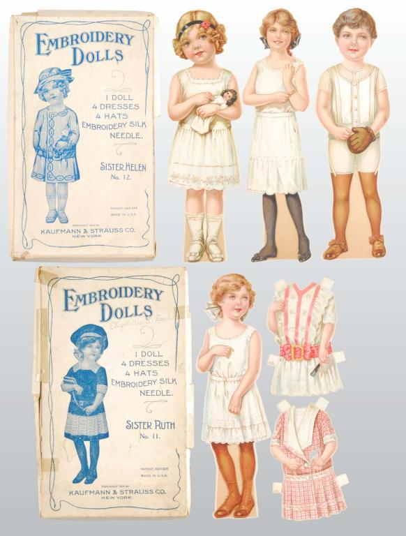 Paper Dolls embroidery design pack - Machine Embroidery Downloads