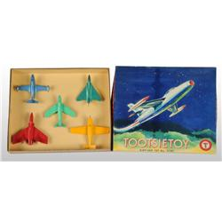 Cast Metal Tootsie Toy Airplane Set.