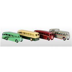 Lot of 4: Dinky Toys Die-Cast Buses.