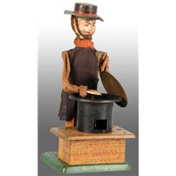 French Martin Hand-Painted Chestnut Vendor Toy.