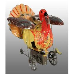 Tin Hand-Painted Turkey Wind-Up Toy.