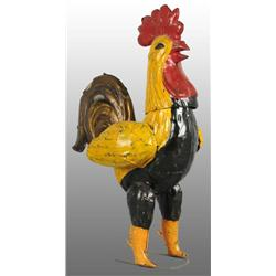 Tin Hand-Painted Rooster Wind-Up Toy.