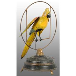 Tin Hand-Painted Parrot Wind-Up Toy.