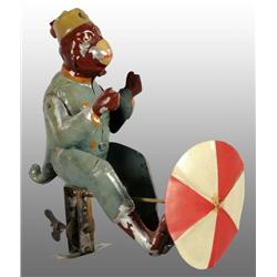 Tin Hand-Painted Monkey Wind-Up Toy.