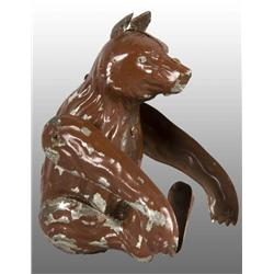 Tin Hand-Painted Somersault Bear Wind-Up Toy.