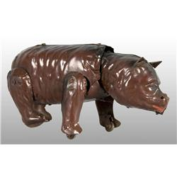 Tin Hand-Painted Bear Wind-Up Toy.