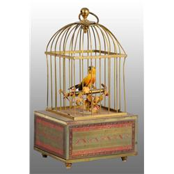 Tin Birdcage Wind-Up Toy.