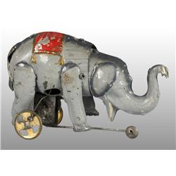 Tin Hand-Painted Elephant Wind-Up Toy.
