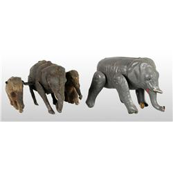 Lot of 2: Tin Hand-Painted Elephant Wind-Up Toys.