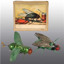 Lot of 2: Tin Fly Wind-Up Toys.