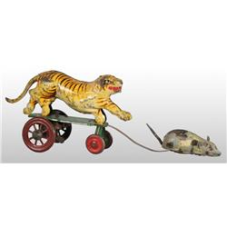 Tin Cat & Mouse Platform Wind-Up Toy.