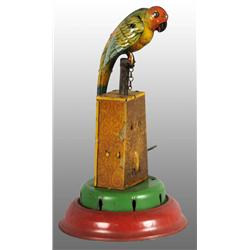 Tin Litho Parrot Wind-Up Toy.