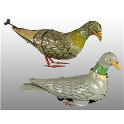 Lot of 2: Tin Litho Pigeon Wind-Up Toys.
