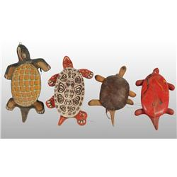 Lot of 5: Turtle Pull Toys.