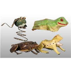 Lot of 4: Early Frog Toys.
