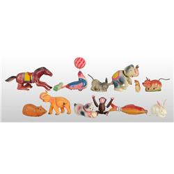 Lot of 13: Animal Toys.